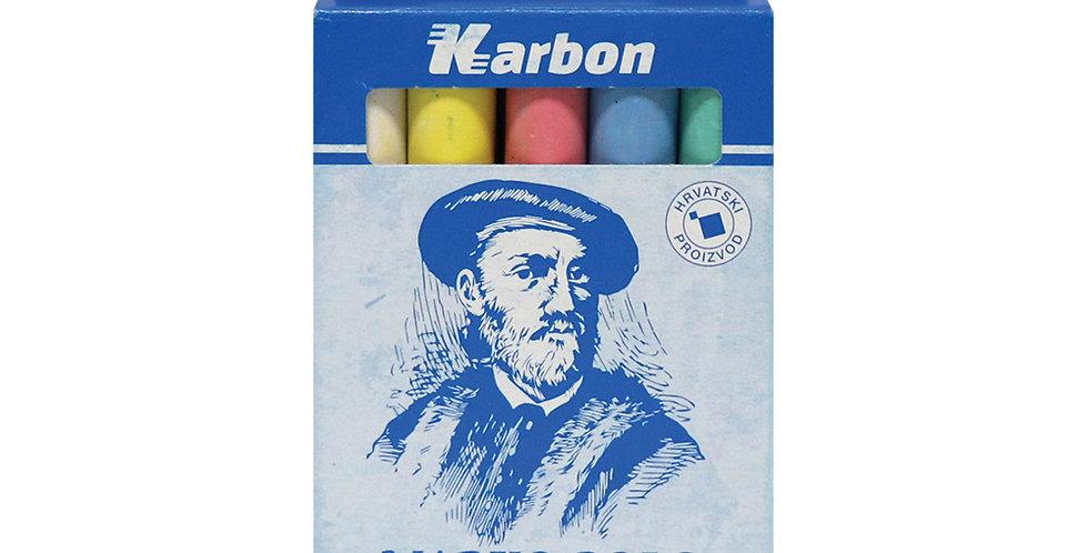 Kreda školska Marko Polo okrugla besprašna u boji 1/10 Karbon