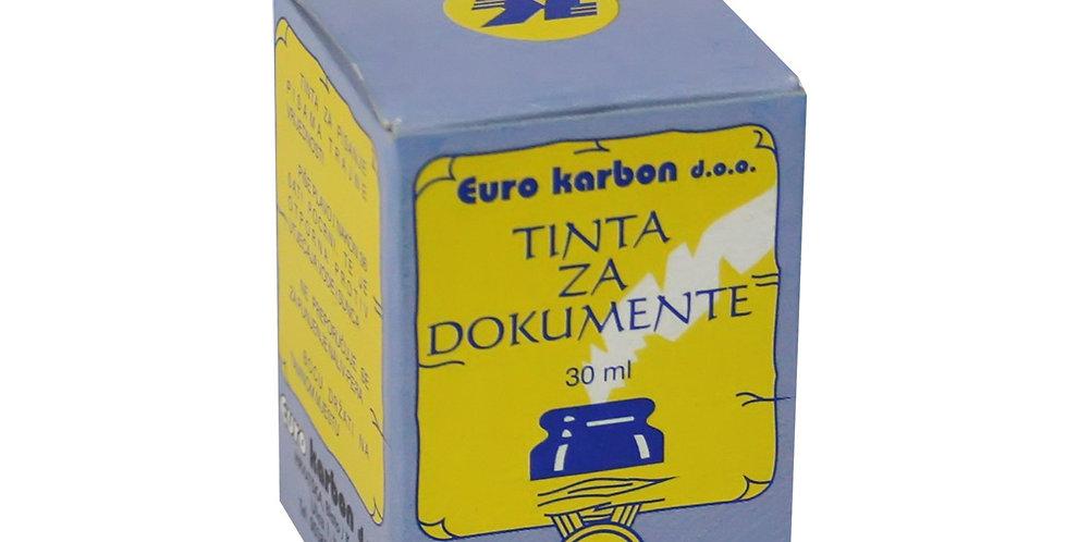 Tinta specijalna za trajne dokumente 30 ml Karbon