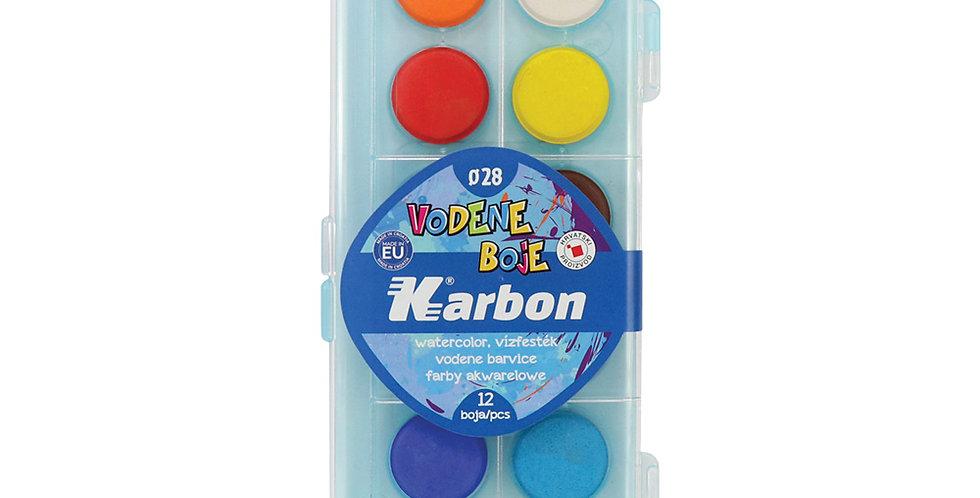 Boje vodene 1/12 fi28 Karbon - svijetlo plava kutija