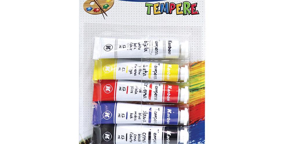 Tempera 1/5 12ml KARBON bls 5 boja P5/75