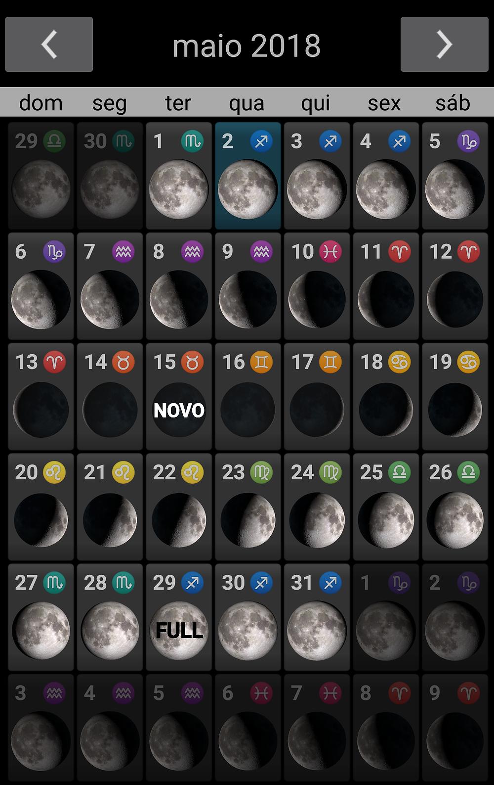 Calendário das Luas