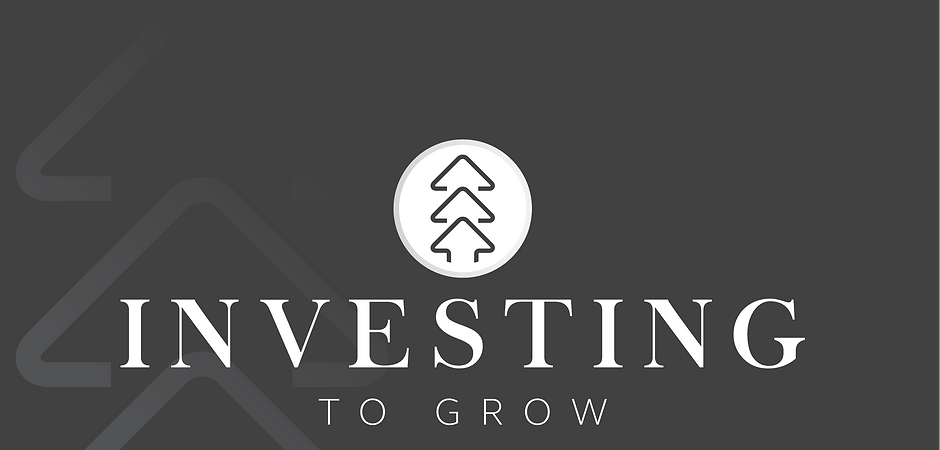 Investing To Grow Logo B&W with Backgrou