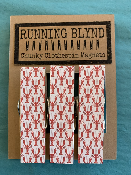 Running Blynd Chunky Clothespin Magnets