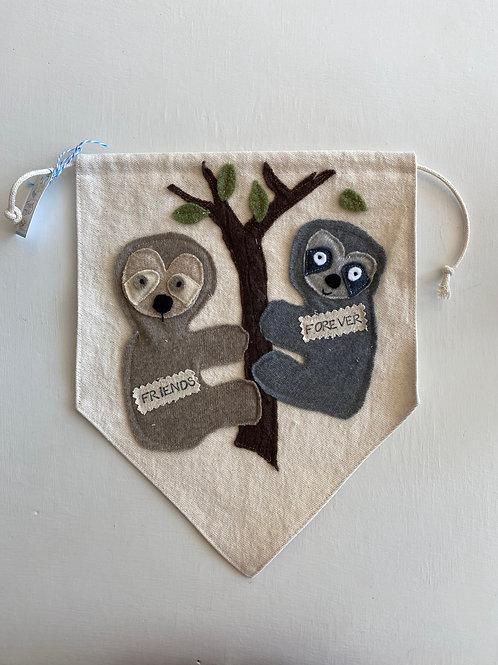 Friends Forever Sloth Banner