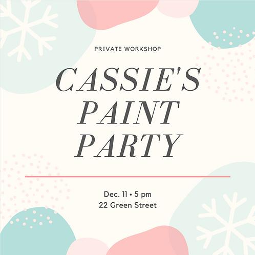 Cassie's Paint Party