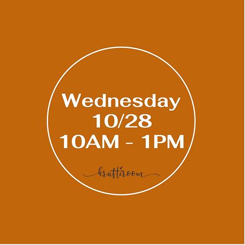 Wednesday 10/28 Workshop