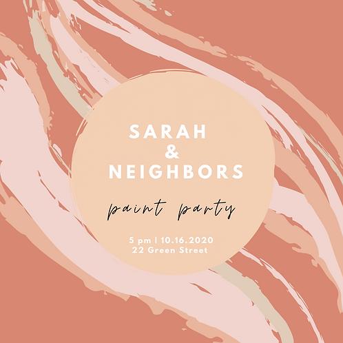 Sarah & Neighbors Paint Party