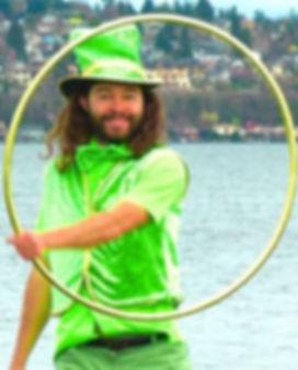 Hoopsmiles hula hooping leprechaun