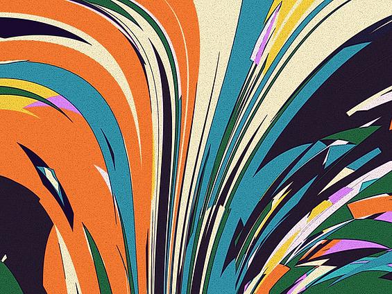 Vintage color explosion