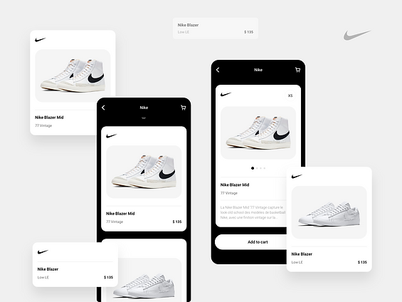 Nike Concept | Product Card App