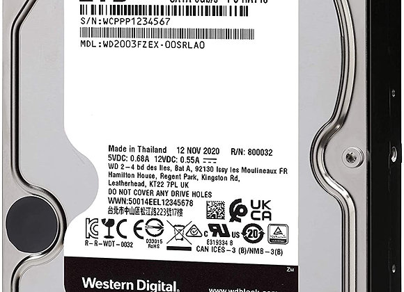 Western Digital Storage 2TB 6Gb/s SATA 3.5inch 7200rpm 64MB Cache Bare