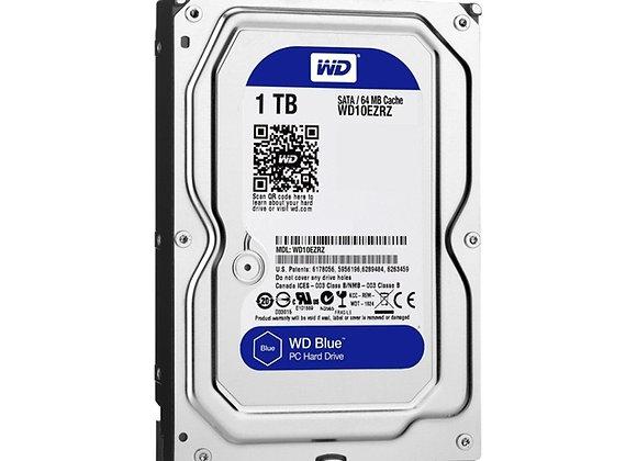 """Western Digital HDD WD10EZRZ 1TB Blue SATA 3.5"""" 64MB Cache Bare"""