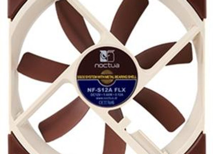 Noctua Fan NF-S12A FLX Knobs Blade Tips 3 Speed SSO2 Bearing 120x120x25mm Retail
