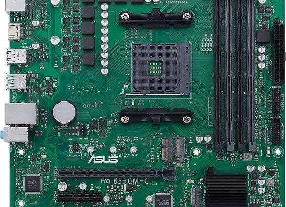 ASUS MB PRO B550M-C CSM AMD AM4 Ryzen5000 4000G 3000 B550 128GB DDR4 micro ATX