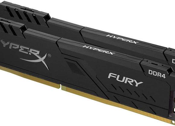 Kingston Memory HX426C16FB3K2/16 16GB 2666 DDR4 CL16 DIMM K2 1Rx8 HyperX FURY