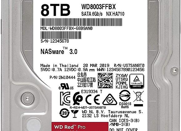 """Western Digital Hard Disc Drive 3.5"""" 8TB Red Pro SATA 6Gb/s 7200RPM 256MB Bare"""