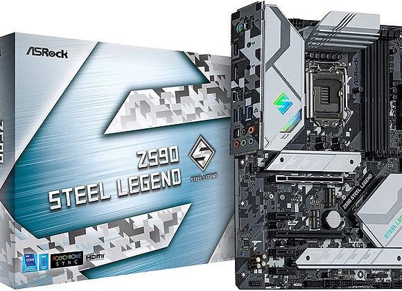 ASRock Z590 STEEL LEGEND LGA1200 Z590 128GB DDR4 PCI Express HDMI Port ATX
