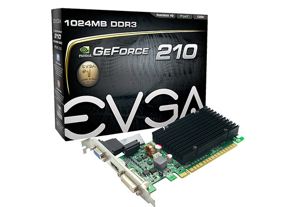 EVGA Video Card GeForce 210 1GB DDR3 64Bit PCI Express DVI/VGA/HDMI Retail