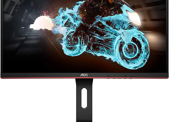 "AOC C24G1A 24"" Curved Frameless Gaming Monitor, FHD 1920x1080, 1500R, VA"