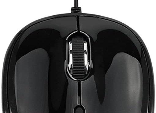 Adesso iMouse S8B USB Illuminated Mini Mouse Black with Retractable USB Cable
