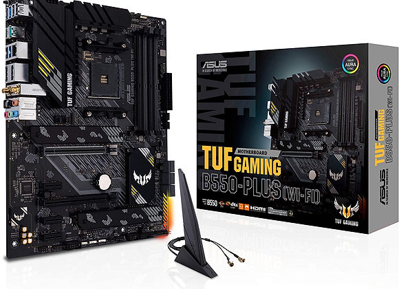 ASUS TUF GAMING B550-PLUS WiFi AMD Socket AM4 B550 128GB DDR4 DisplayPort ATX