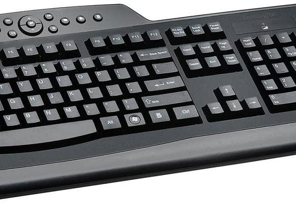 Kensington Keyboard K72408US ProFit Keyboard Mouse Wireless Media Desktop Set