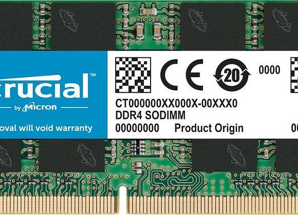 Crucial CT32G4SFD832A 32G DDR4 3200MT/s CL19 DR x8 Unbuffered SODIMM