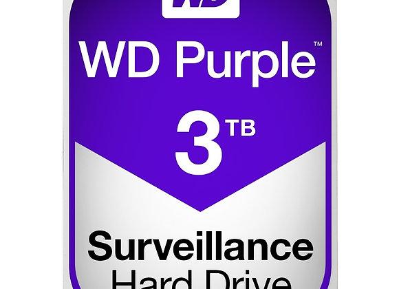 """Western Digital Hard Drive WD Purple AV 3.5"""" 3TB 64MB SATA 6Gb/s 5400 RPM"""