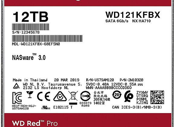 Western Digital Hard Drive WD121KFBX 12TB Desktop Red Pro SATA 256MB Cache