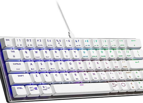 Cooler Master Keyboard SK-620-SKTR1-US SK620 TTC Low Red Switch Silver White