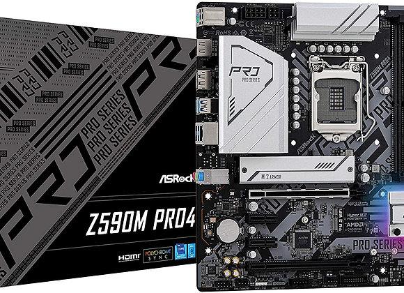ASRock Z590M PRO4 LGA1200 Z590 128GB DDR4 PCI Express HDMI/DisplayPort Micro ATX