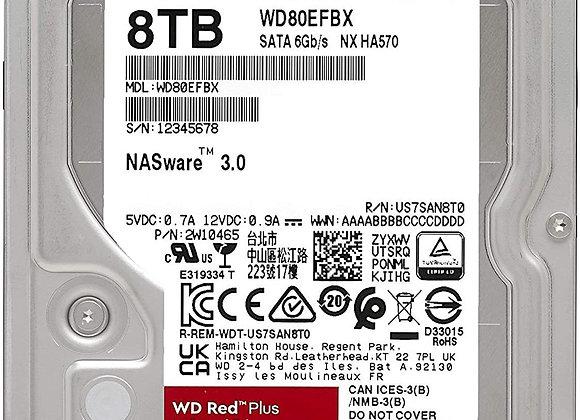 Western Digital HD WD80EFBX 8TB 3.5 SATA WD Red Plus