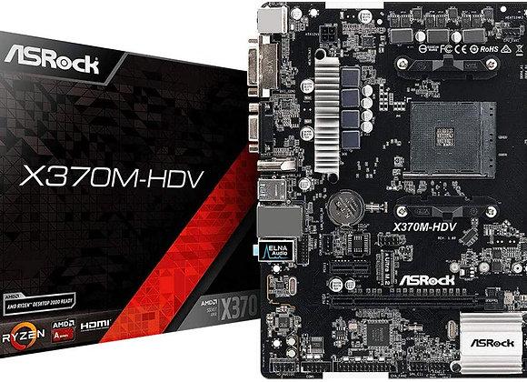 ASRock X370M-HDV AM4 A-Series AMD X370 Maximum 32GB DDR4 Ultra M.2 PCIE mATX