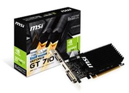 MSI Video Card GT 710 2GD3H LP GT710 2GB DDR3 OC 64Bit DL-DVI-D/HDMI/D-sub LPR