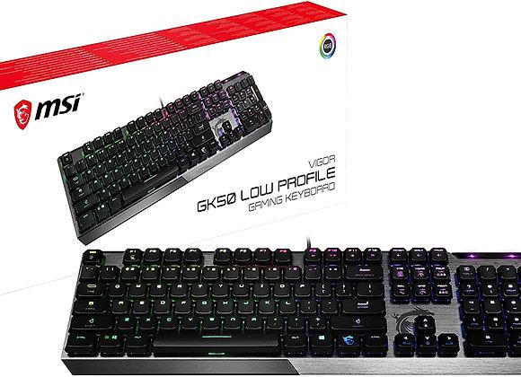 MSI Keyboard Vigor GK50 Gaming Keyboard Low Profile Gaming Keyboard Kailh
