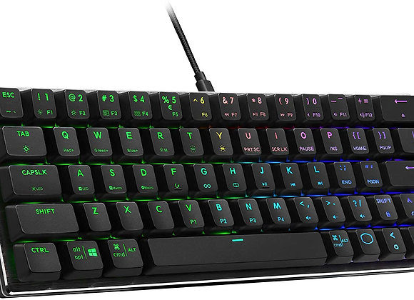 Cooler Master Keyboard SK-620-GKTR1-US SK620 TTC Low Red Switch Space Gray