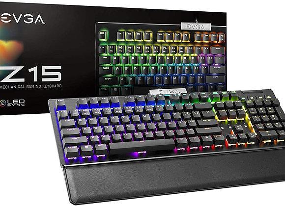 eVGA Keyboard Z15 RGB Gaming Keyboard RGB Backlit Silver Switches Linear