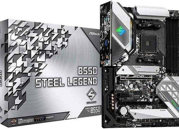 ASRock B550 STEEL LEGEND AMD AM4 Ryzen B550 DDR4 128GB PCI Express/SATA ATX