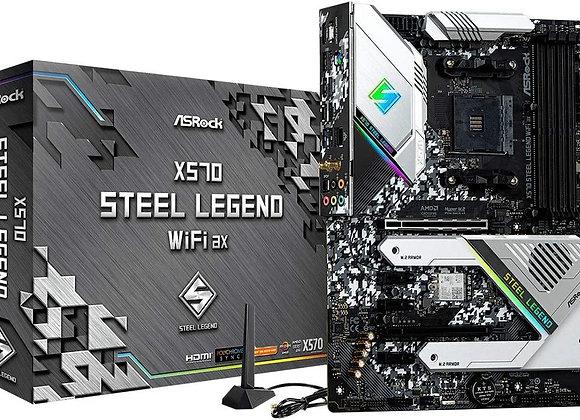 ASRock X570 STEEL LEGEND WIFI AX AMD AM4 X570 128GB DDR4 PCI Express ATX Windows