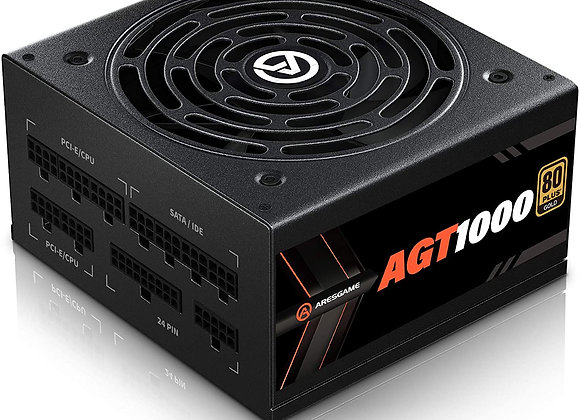 ARESGAME 1000W Power Supply Fully Modular 80+ Gold PSU (AGT1000)