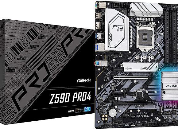 ASRock Z590 PRO4 LGA1200 Z590 128GB DDR4 PCI Express HDMI/Display Port ATX