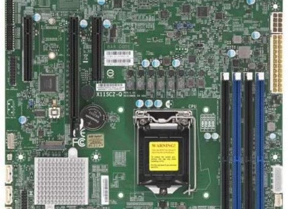 Supermicro MBD-X11SCZ-Q-O Core i7/i5/i3 S1151 Q370 64GB PCI Express 95W uATX