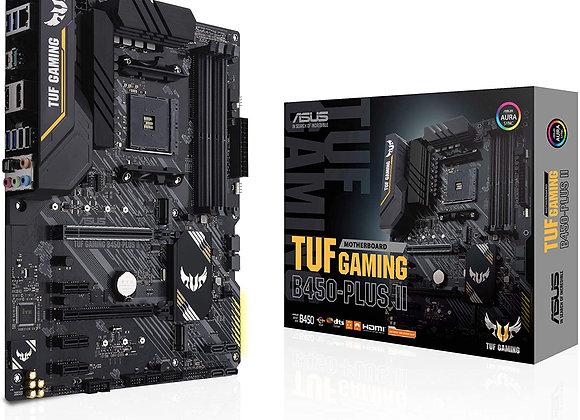 ASUS Motherboard TUF GAMING B450-PLUS II AMD AM4 B450 Max128GB DDR4 PCIe ATX