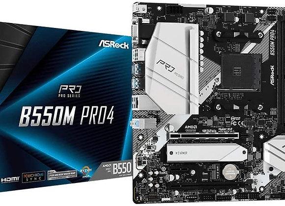 ASRock MB B550M PRO4 AMD AM4 Ryzen/future AMD Ryzen B550 DDR4 128GB Micro ATX