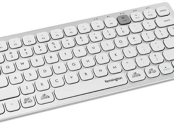 Kensington Keyboard K75504US Multi-Device Dual Wireless Compact Keyboard Silver