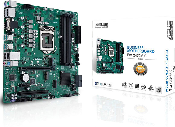 ASUS MB PRO Q470M-C/CSM LGA1200 Q470 Max128GB DDR4 DisplayPort/D-Sub/HDMI mATX