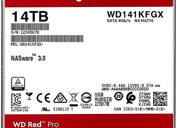 """Western Digital Hard Drive WD141KFGX 14TB SATA 512M 3.5"""" WD Red Pro"""