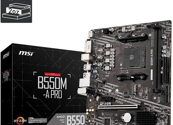MSI MB B550M-A PRO B550MAPRO AMD AM4 B550 64GB DDR4 PCI Express HDMI/DVI-D MATX