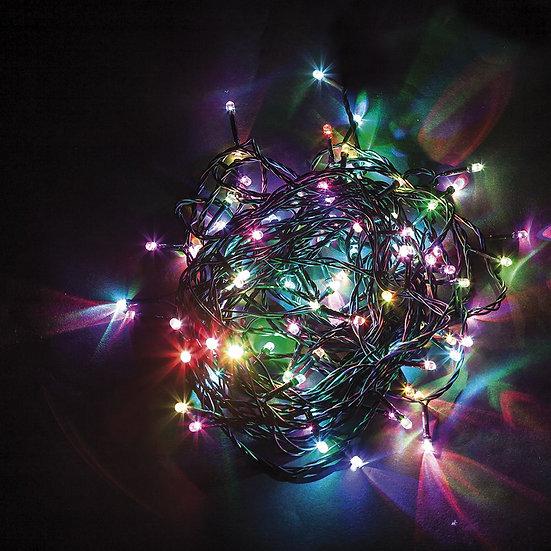 Светодиодная гирлянда на елку 230 V разноцветная