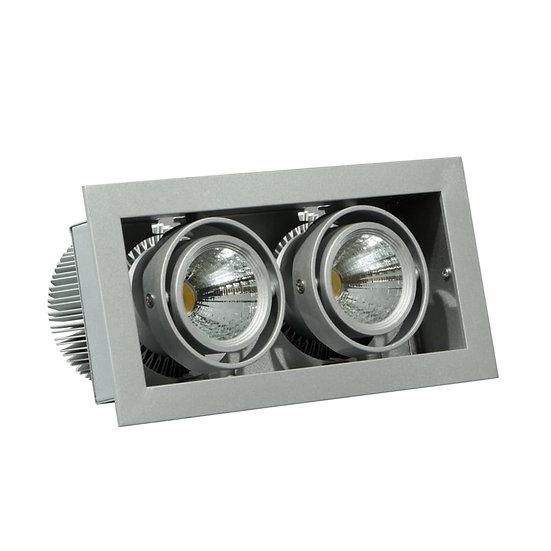 Встраиваемый карданный светодиодный светильник Avior 2 LED 2х23 W
